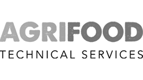 An image showing the Agrifood technical Services black and white Logo for 5 Agri. Agricultural Consu